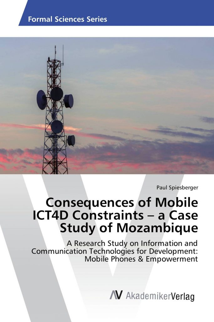 Book Cover - Consequences of Mobile ICT4D Constraints – a Case Study of Mozambique