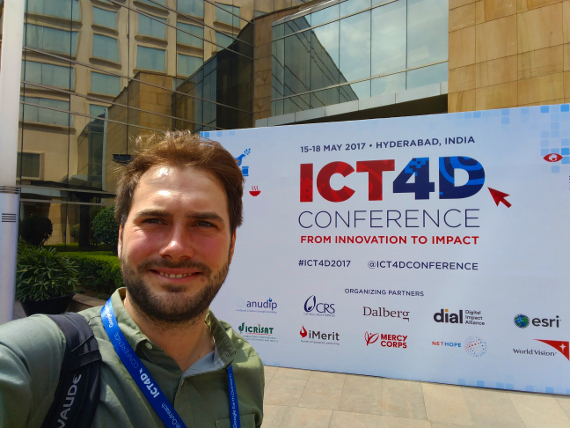 Paul in front of the conference