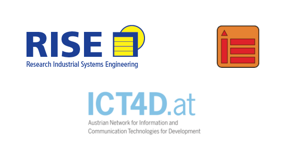 Logos of RISE, INSO and ICT4D.at